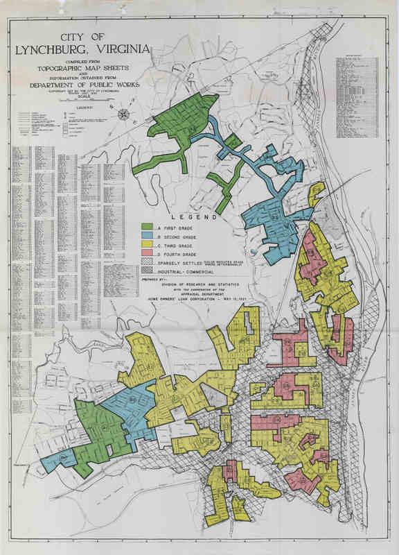 Lynchburg HOLC map